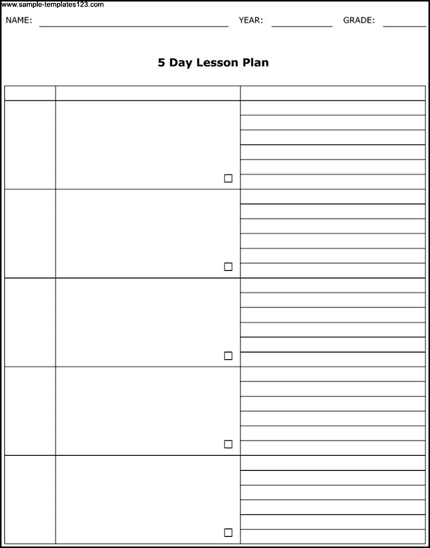 Free Printable 5 Day Calendar Template • Printable Blank pertaining to 5 Day Calendar Printable
