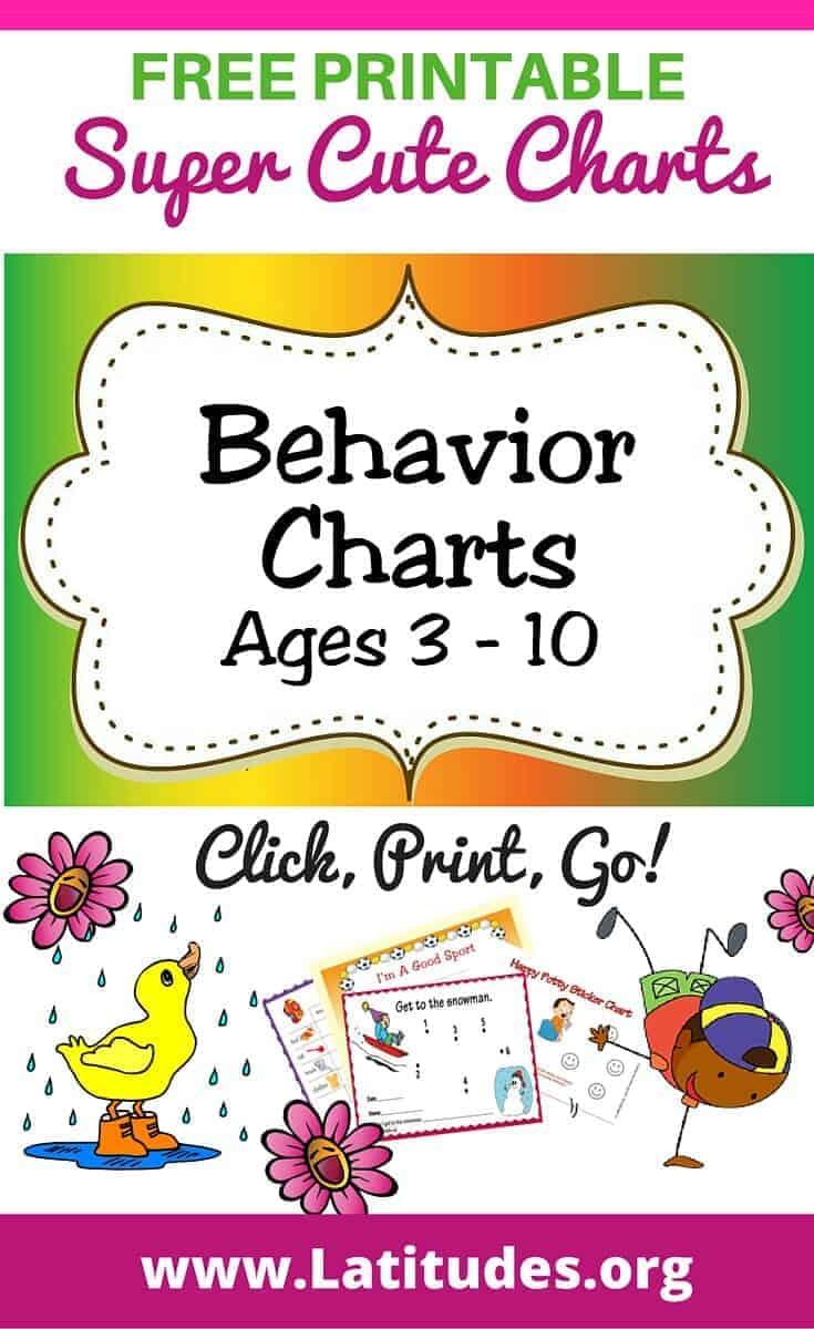 Free Printable Behavior Charts (Ages 310) | Acn Latitudes with regard to Free Printable Behavior Charts For Kindergarten