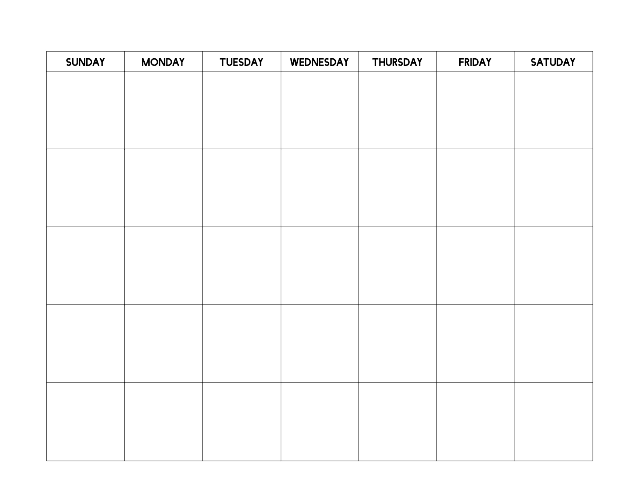 Free Printable Blank Calendar Template  Paper Trail Design with regard to Fill In Blank Calendar