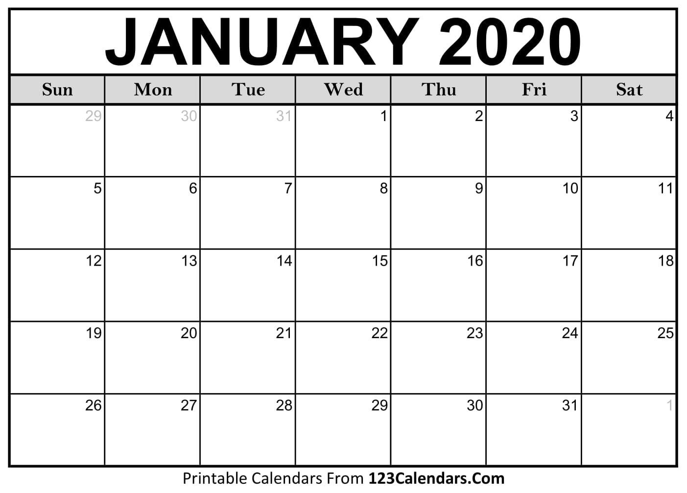 Free Printable Calendar | 123Calendars throughout Printable Calendars From 123Calendars