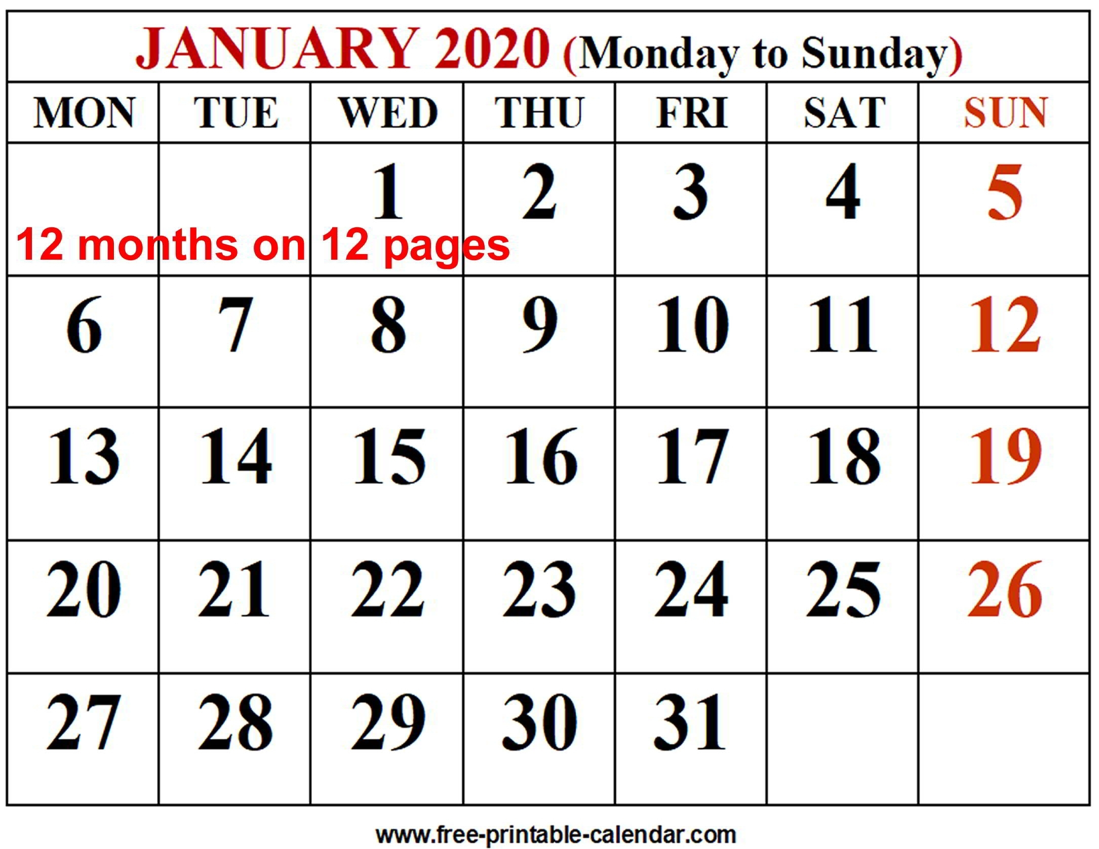 Free Printable Calendar 2020 Monthly 4 Months On A Page intended for 3 Month Calendar Printable 2020