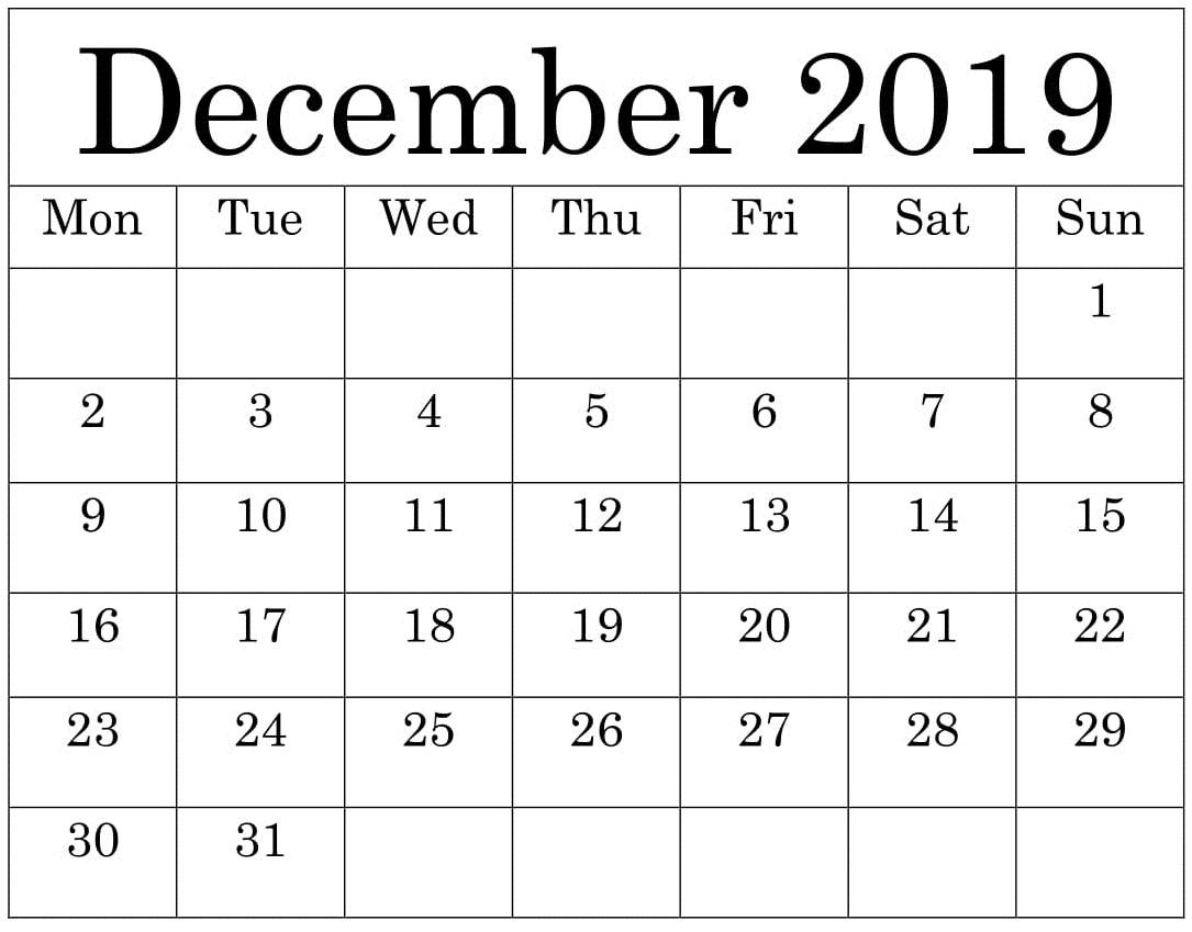 Free Printable December 2019 Calendar Worksheets Template inside Free Printable Pocket Calendar