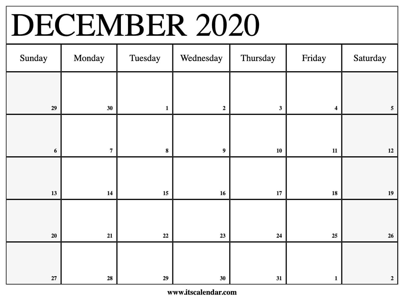 Free Printable December 2020 Calendar pertaining to 123 Calendars December 2020