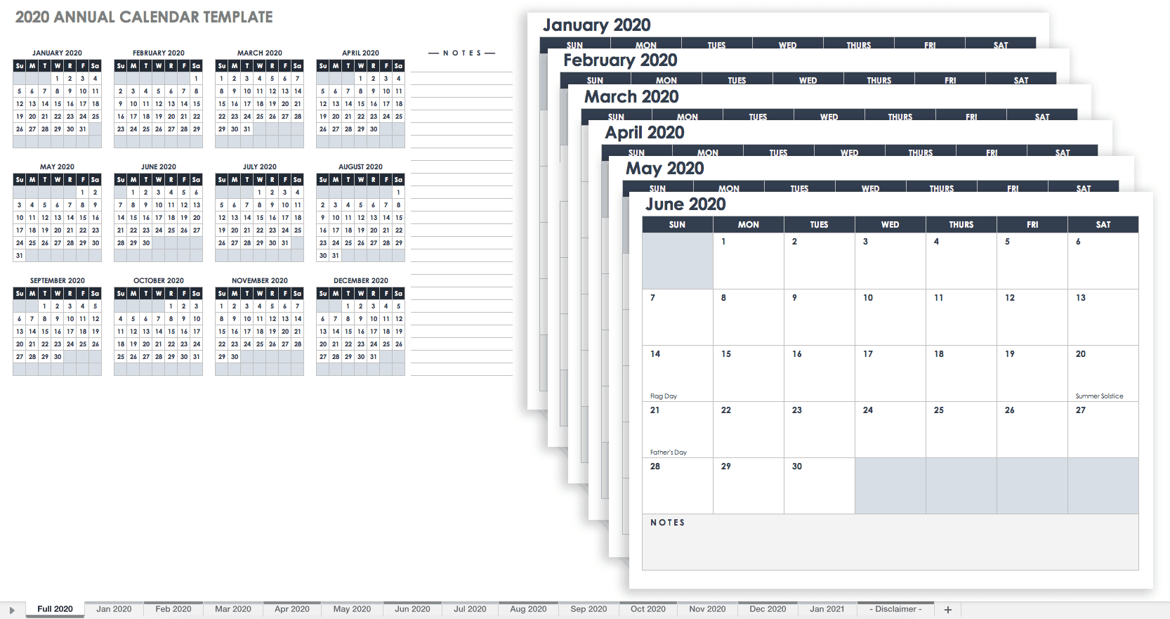 Free, Printable Excel Calendar Templates For 2019 & On throughout Smartsheet 2020 Calendar