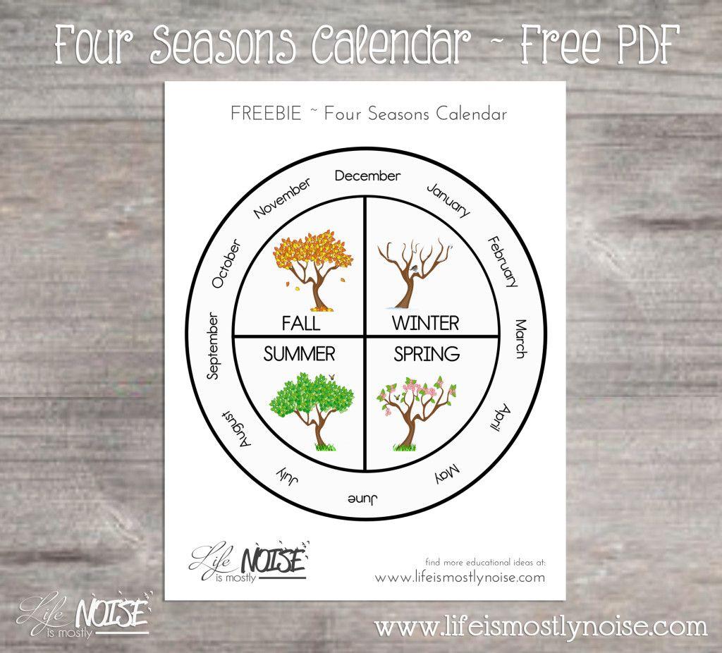 Free Printable  Four Seasons Wheel Calendar. ~ Print, Cut pertaining to Calendar Wheel Printable