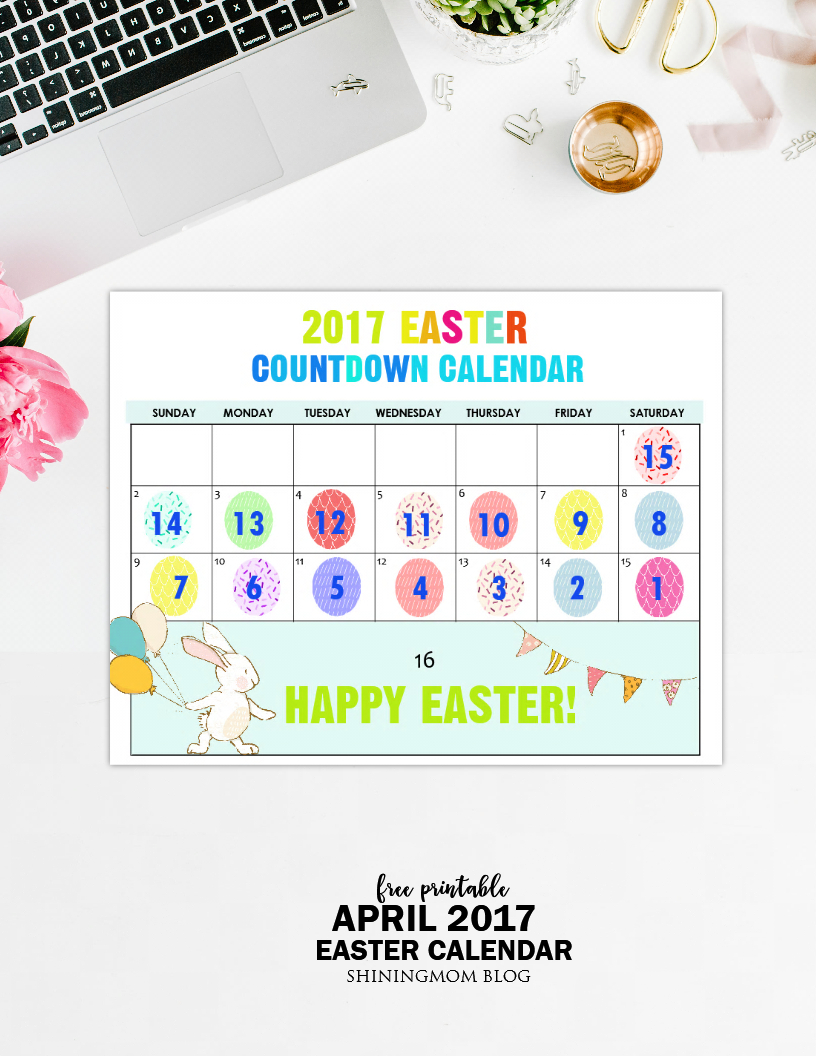 Free Printable: Fun Easter Countdown Calendar 2017 for Make A Countdown Calendar Printable