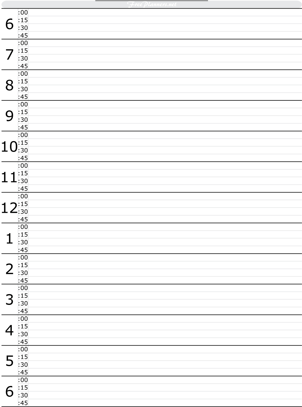 Free Printable Hourly Daily Planner | Day Planner Template with Hourly Day Calendar