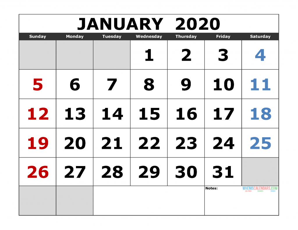 Free Printable Monthly Calendar 2020 Excel, Pdf, Image [Us with 3 Month Calendar 2020 Excel