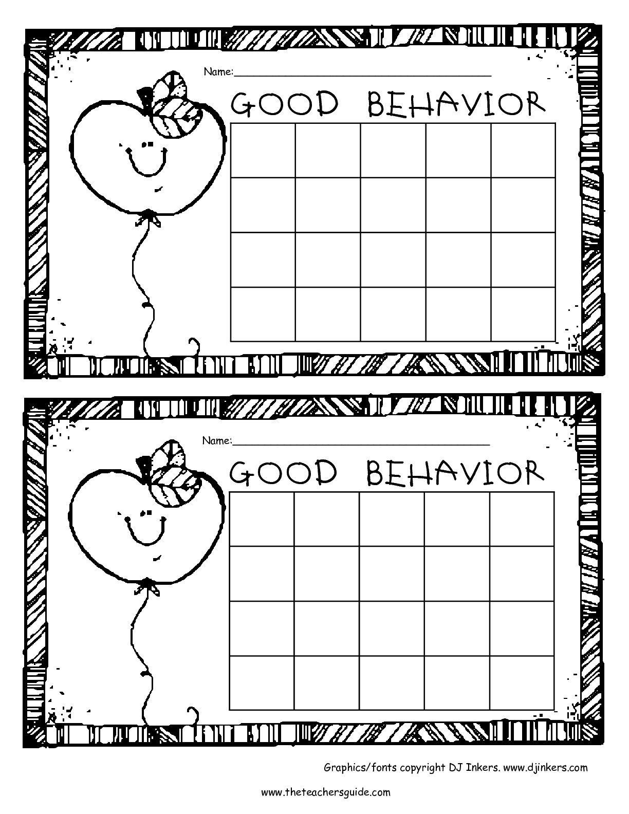 Free Printable Reward And Incentive Charts | Rewards | Free throughout Free Printable Behavior Charts For Kindergarten