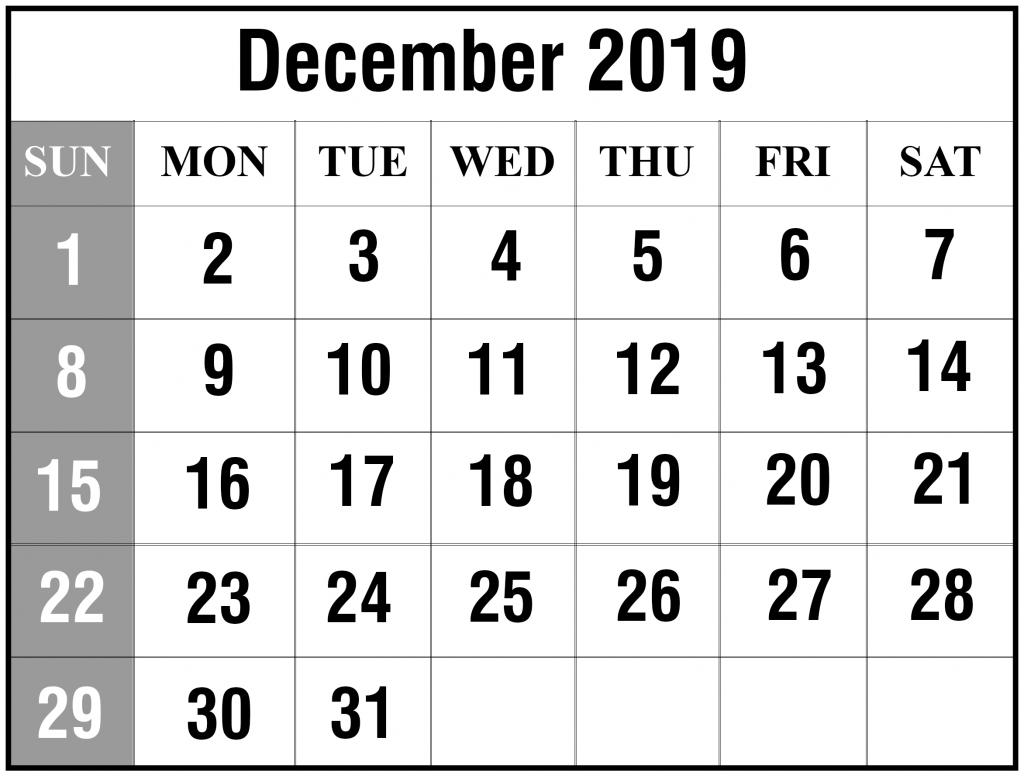 Free Printable Wallet Calendar December 2019 | Example throughout Printable 2020 Wallet Calendar