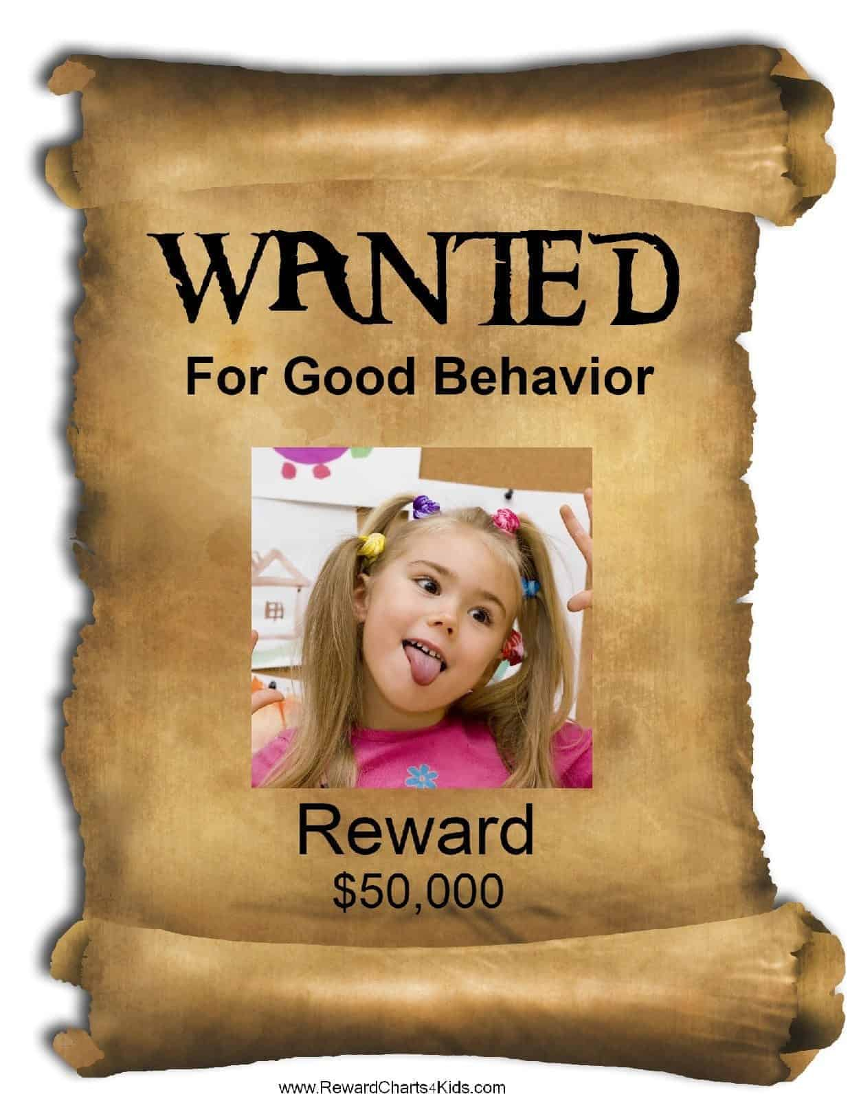 Free Printable Wanted Poster Template | Customize Online in Make Your Own Wanted Sign