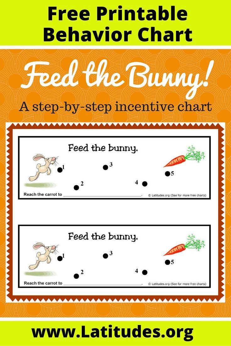 Free Stepbystep Behavior Chart (Feed The Bunny regarding Free Printable Behavior Charts For Kindergarten