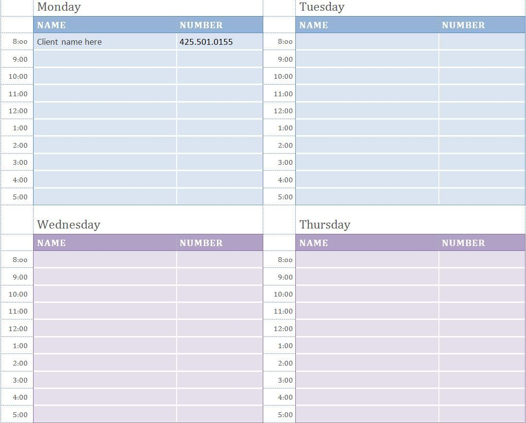 Free Weekly Appointment Calendar | Appointment Calendar inside Free Printable Appointment Calendar