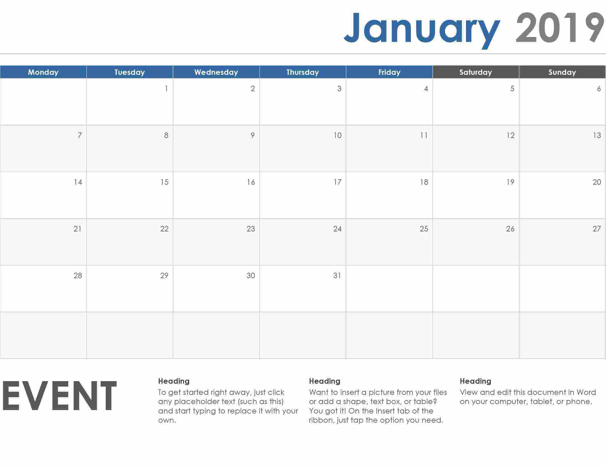 Free Weekly Schedule Templates For Word Templates within Free Weekly Schedule