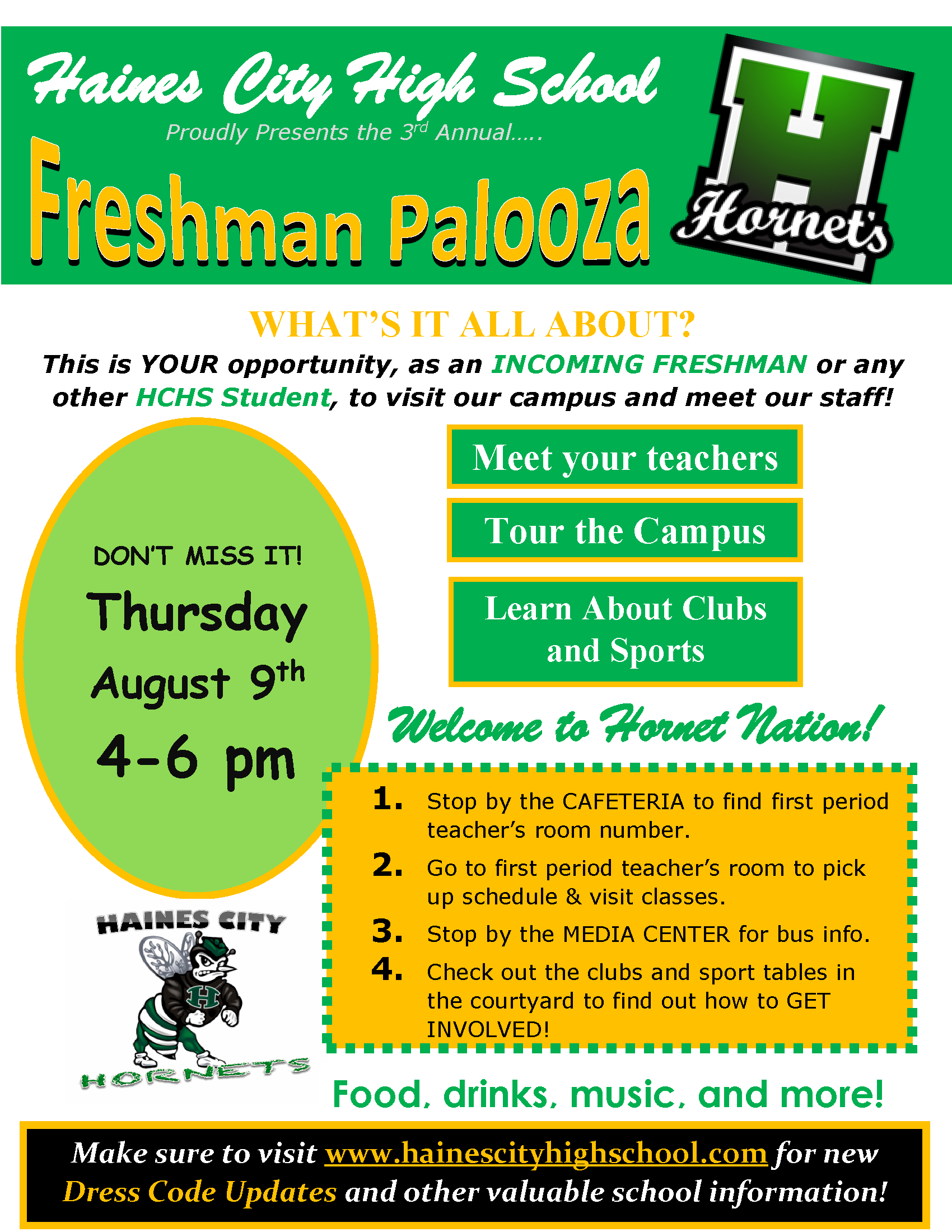 Freshman Palooza 2018 Flyer – Haines City High School intended for Haines City Bell Schedule