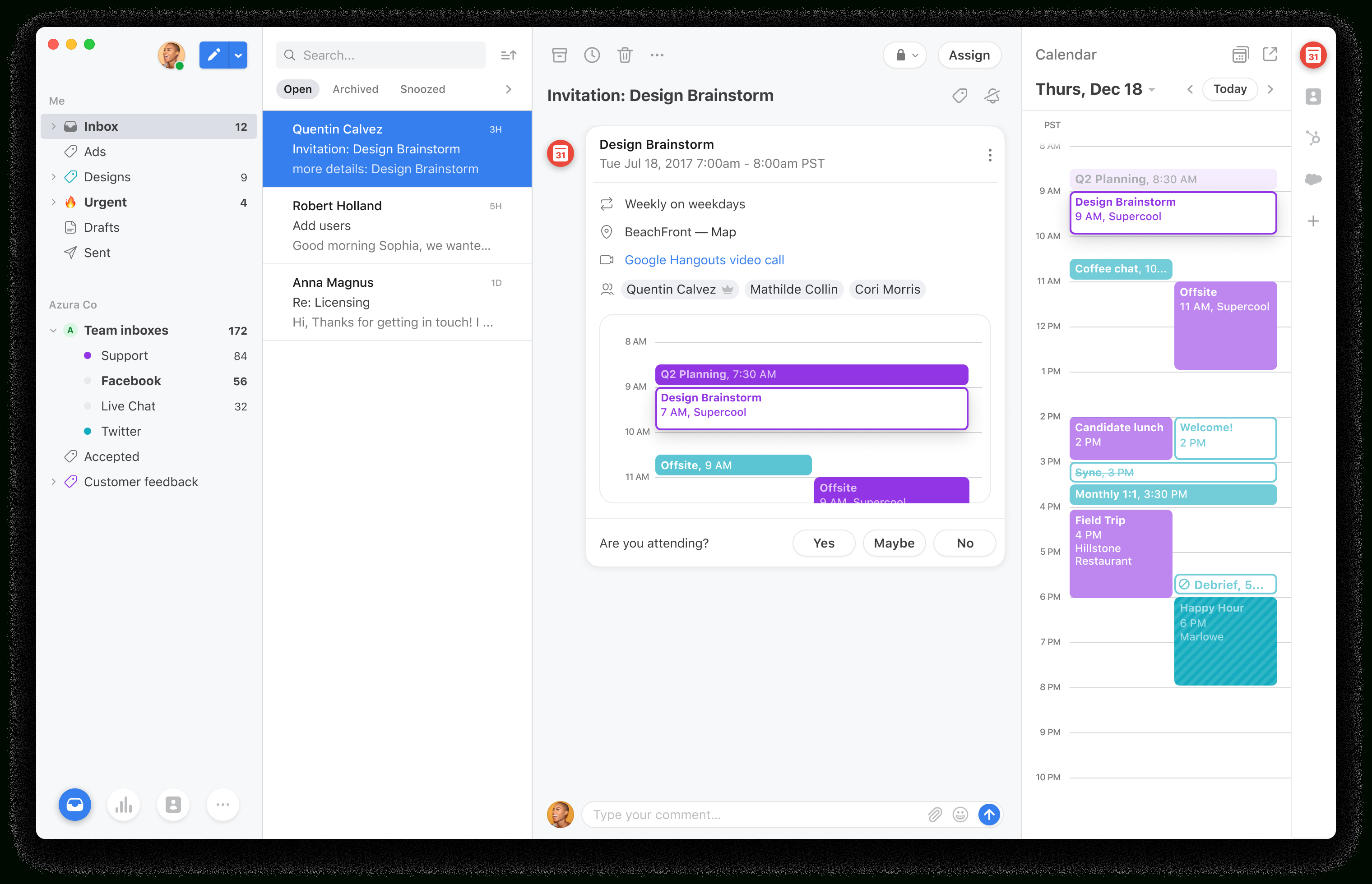 Front Announces Front Calendar To Integrate Scheduling With throughout Roger Rowe School Calendar