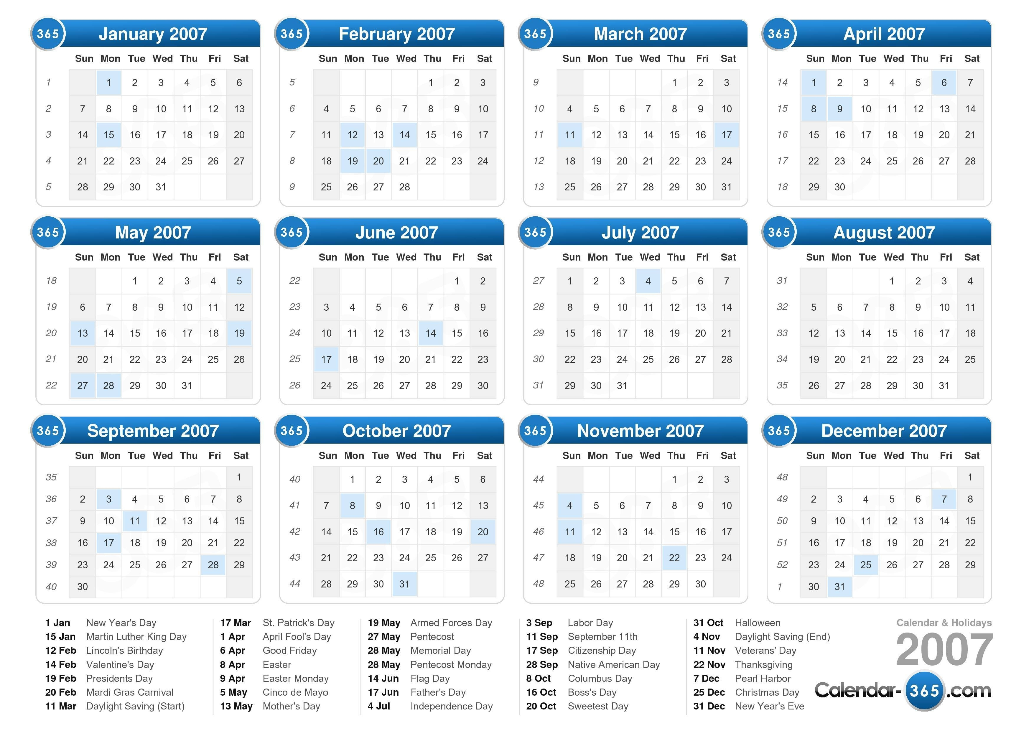 Full Page Monthly Calendar Printable | Example Calendar with regard to Printable 2007 Calendar