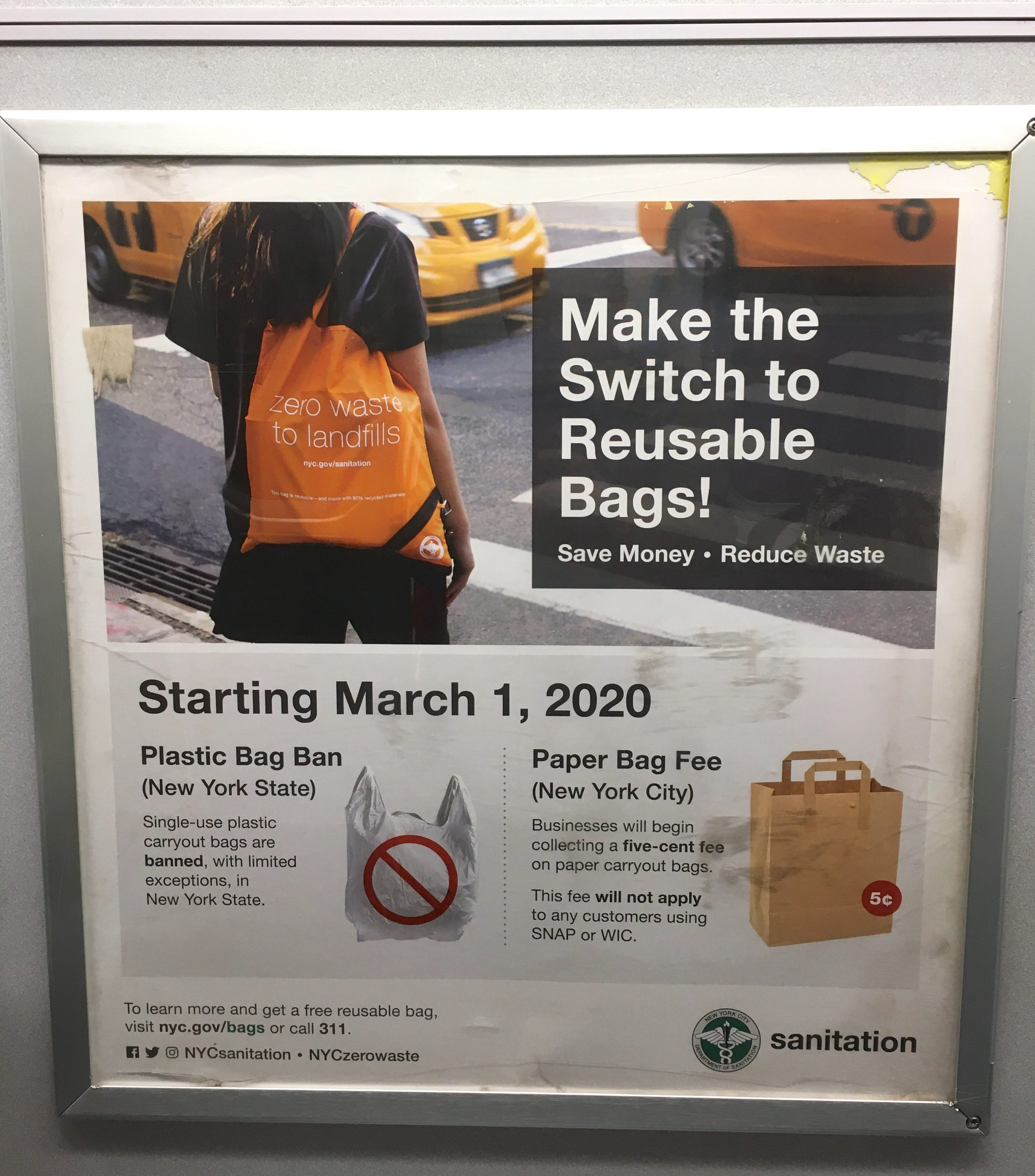 Fyi: Single Use Plastic Bag Ban March 1, 2020 – The Howard within Nyc Alternate Side Parking Calendar 2020