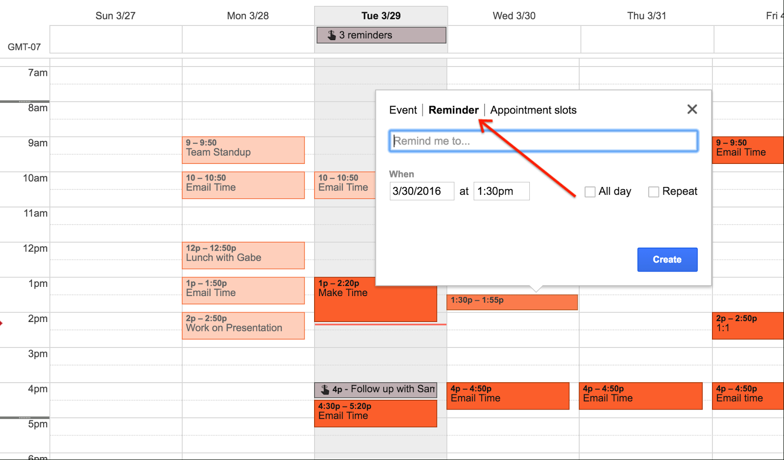 G Suite Updates Blog: Launch Of Reminders For Google intended for Add A Reminder In Google Calendar