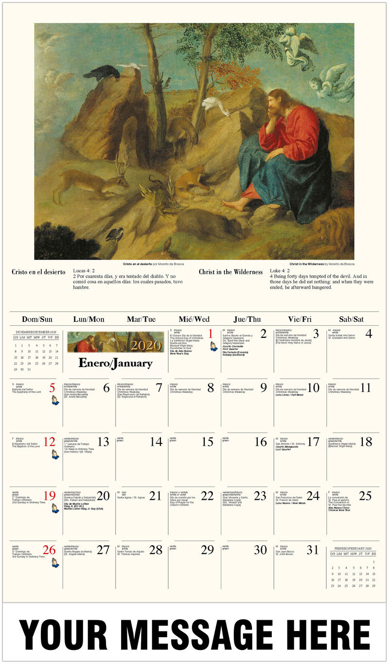 Galleria Catholic Inspirations (Engsp)  2020 Promotional in Catholic Liturgy Calendar 2020