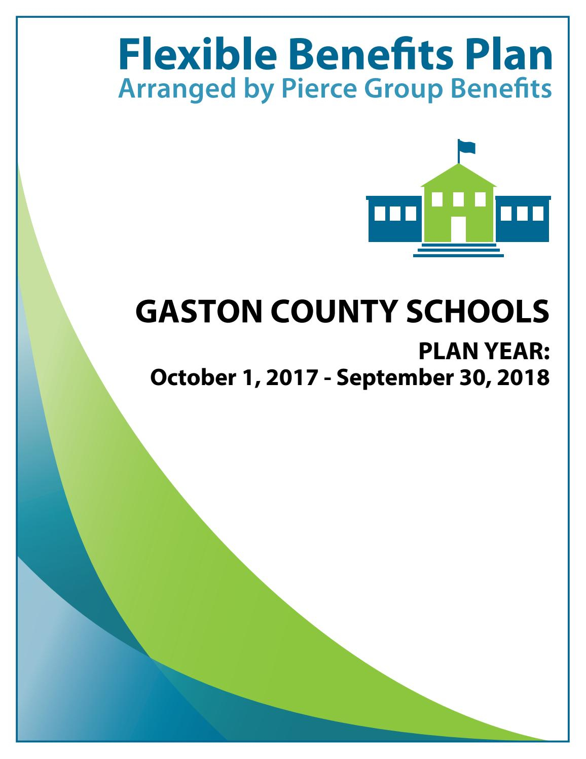 Gaston County Schools 2017 Booklet 2017 2018 Plan Year (12 throughout Gaston County School Calendar
