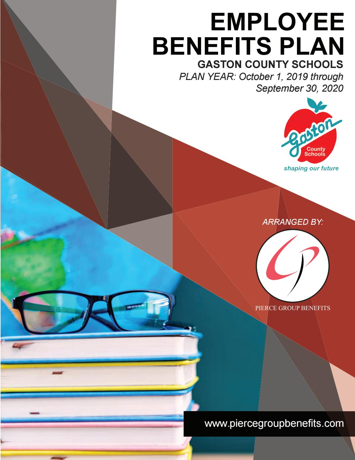 Gaston County Schools 2019 Booklet  20192020 Plan Year with Gaston County School Calendar