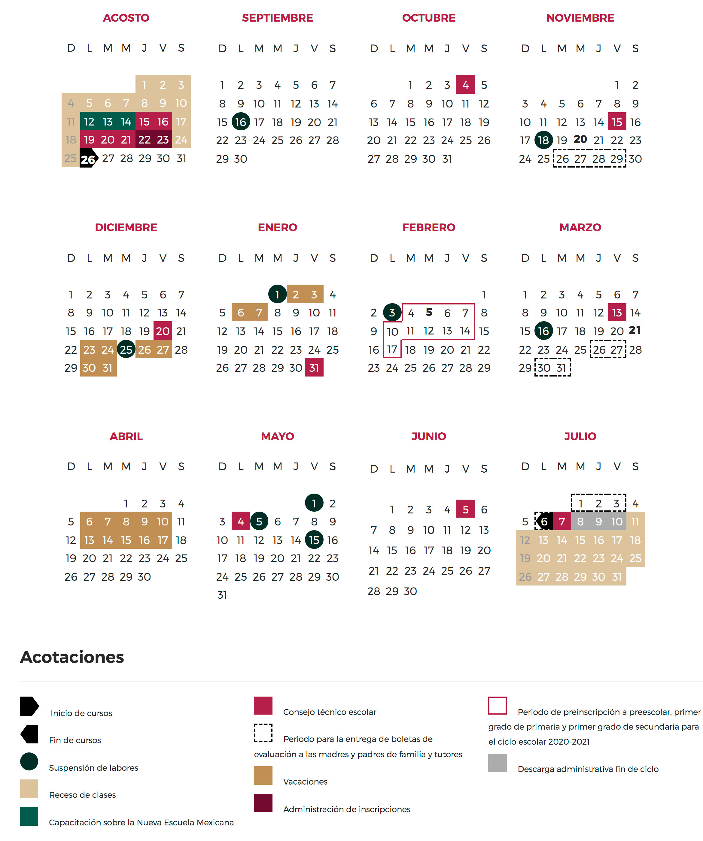 Gem | Calendario Escolar 20192020 Educación pertaining to Calendario Escolar Sep 2020 2020