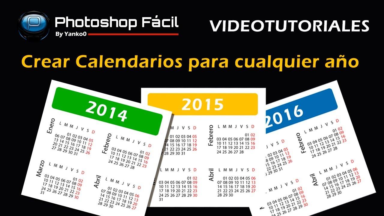 Generar Calendarios Para Cualquier Año Photoshop Fácil Yanko0 inside Script Calendario Photoshop