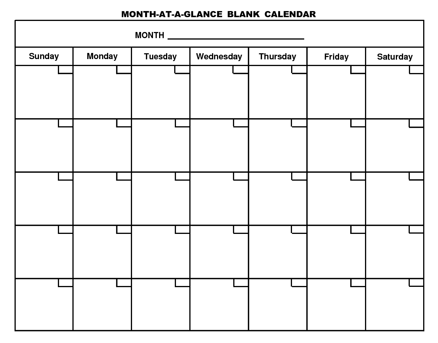 Generic Monthly Calendar Template  Bolan.horizonconsulting.co pertaining to Preschool Monthly Calendar Template