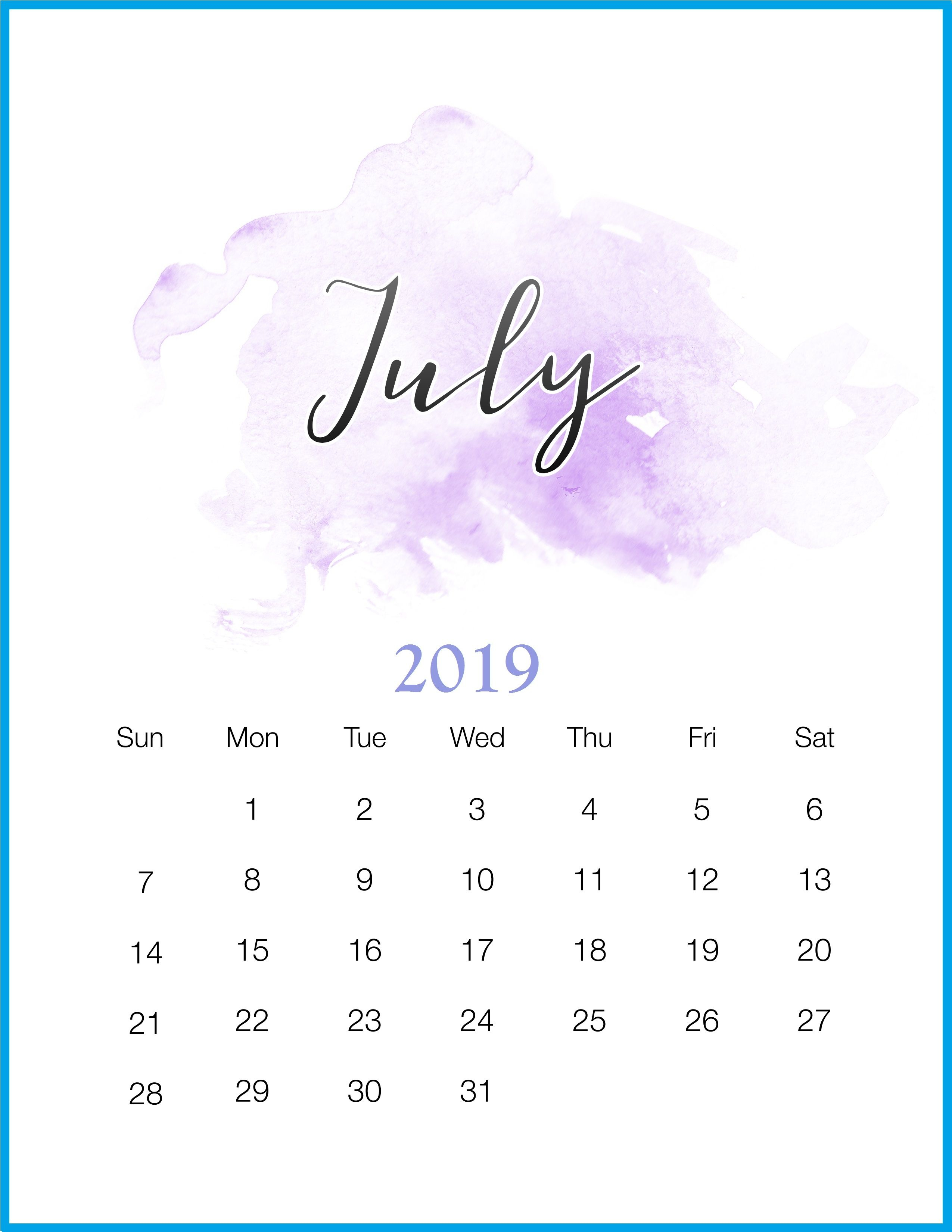 Get Free July 2019 Calendar Template Decemberjuly 2019 regarding Script Calendario Photoshop