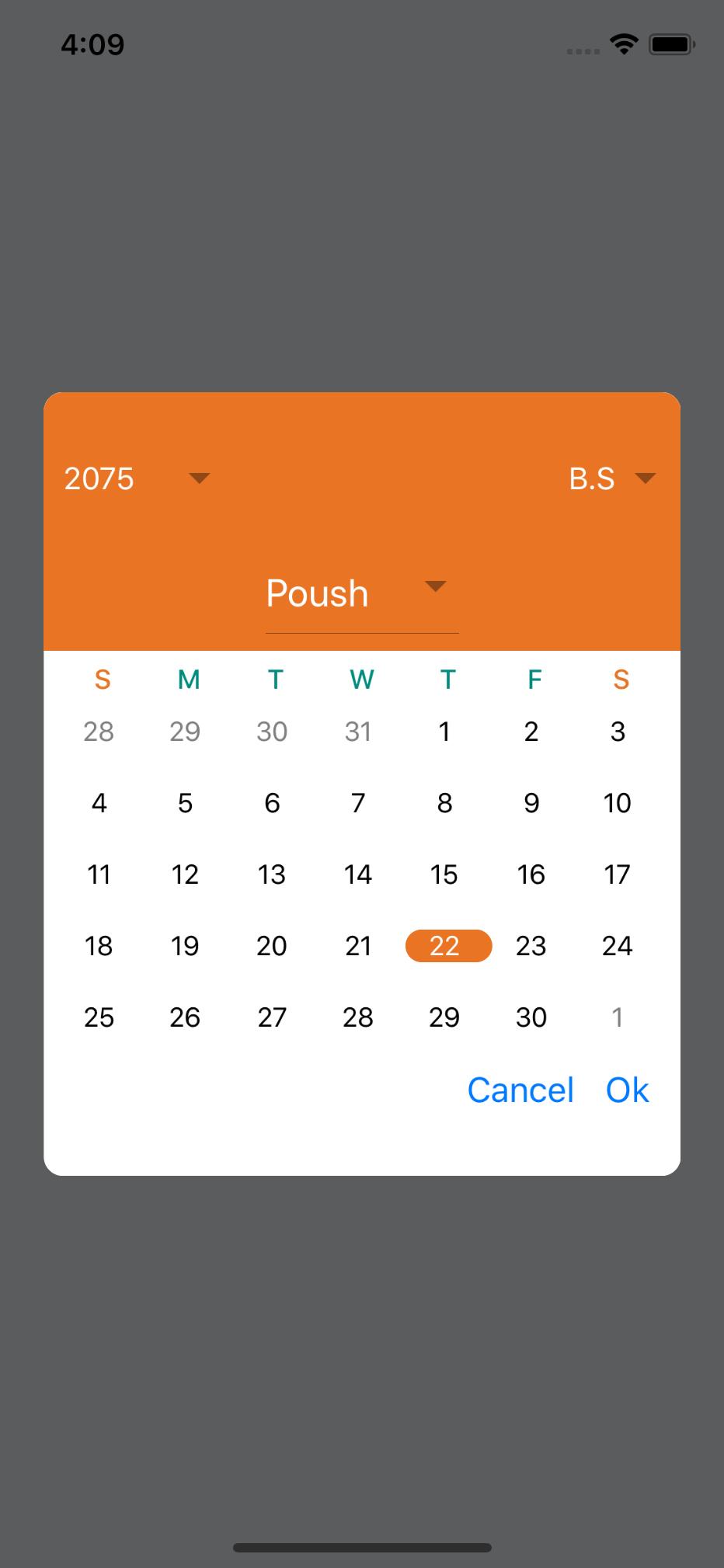 Github  Sharingapplesreactnativenepalidatepicker for Nepali Date Picker