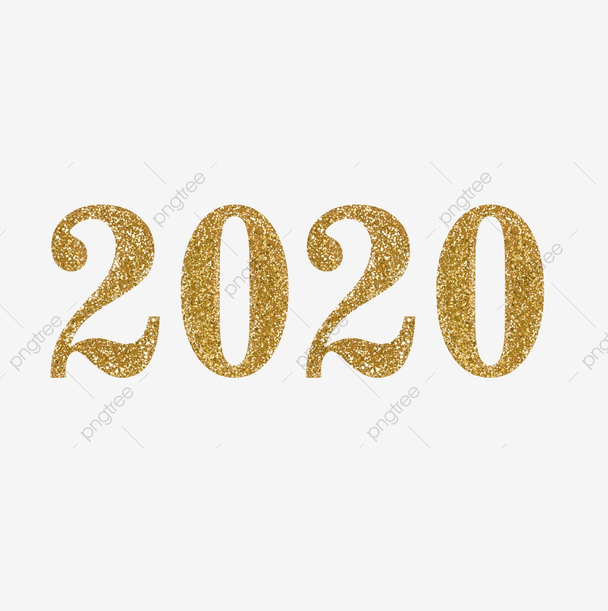 Gold Glitter 2020 Png, Glitter, Gold, Golden Png And Vector intended for 2020 Transparent Background