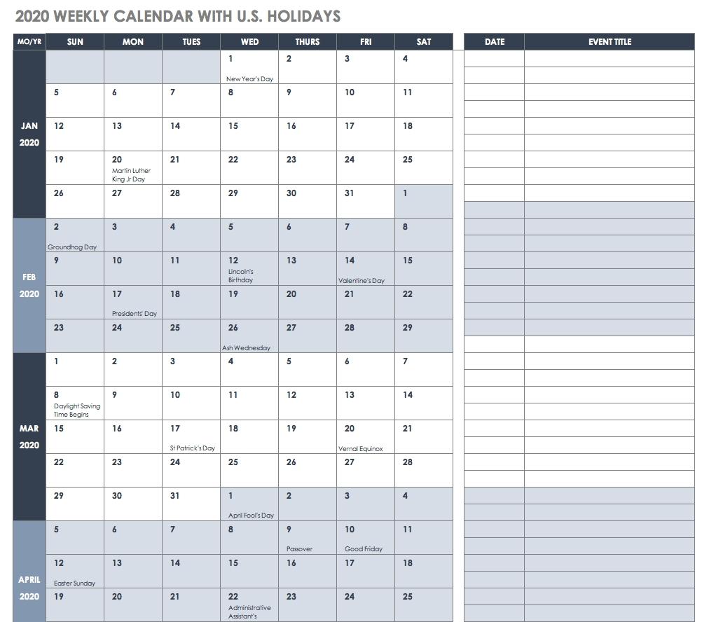 Good Printable Calendar Excel 2019 : Mini Calendar Template with regard to Hong Kong Calendar 2020 Excel