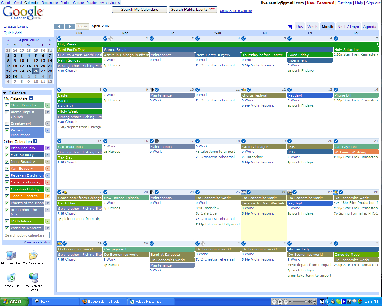 Google Calendar  Nadine Mullingsnadine Mullings pertaining to How To Make Google Calendar Desktop Background