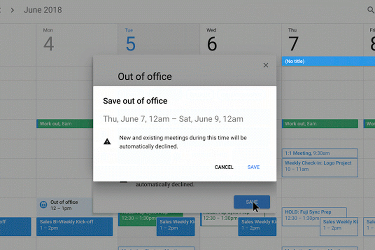 Google Calendar Now Has An 'out Of Office' Option  The Verge with regard to Google Calendar Hide Non Working Hours