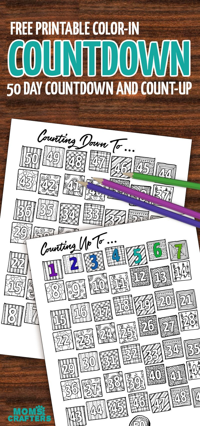 Grab This Fun Colorin Countdown And Progress Tracker in 365 Day Countdown Calendar