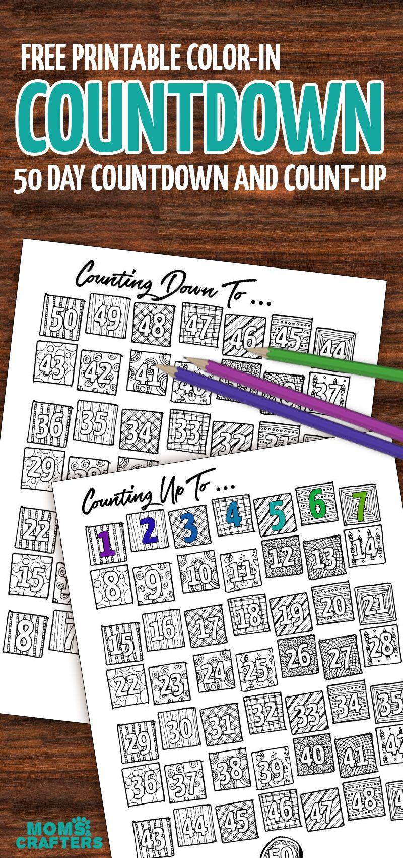 Grab This Fun Colorin Countdown And Progress Tracker inside Make A Countdown Calendar Printable