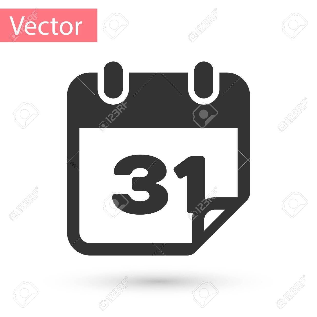 Grey Calendar Icon Isolated On White Background. Vector Illustration inside Calendar Icon Grey