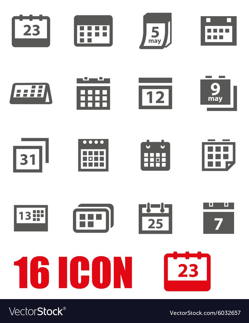 Grey Calendar Icon Set throughout Calendar Icon Grey