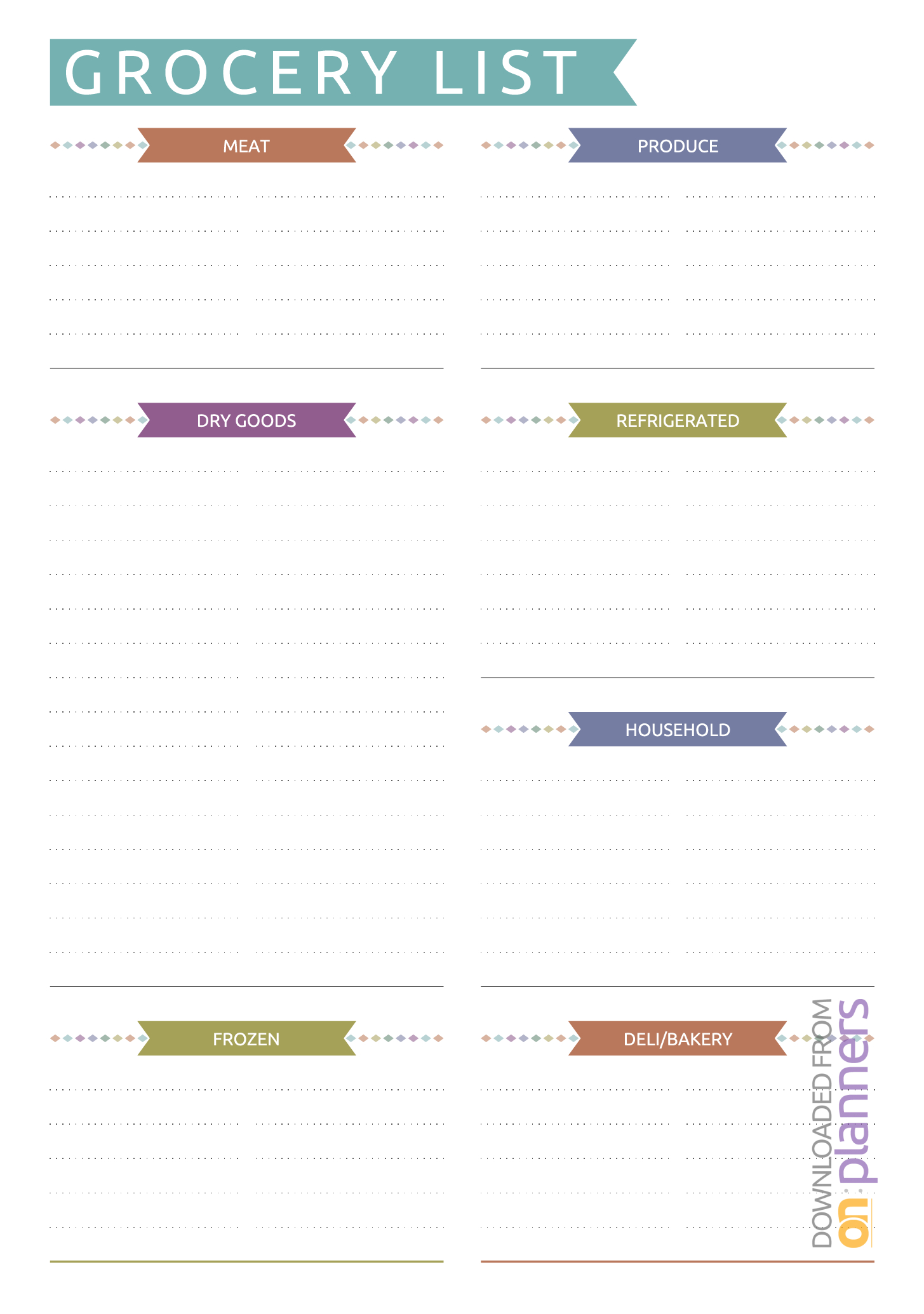 Grocery List Template Printable Pdf Editable Excel Shopping inside Editable Grocery List