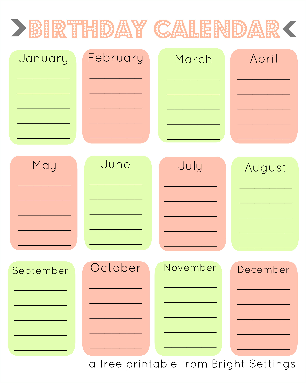 Happy Birthday Calendar Printables  Yatay.horizonconsulting.co for Classroom Birthday Calendar Template