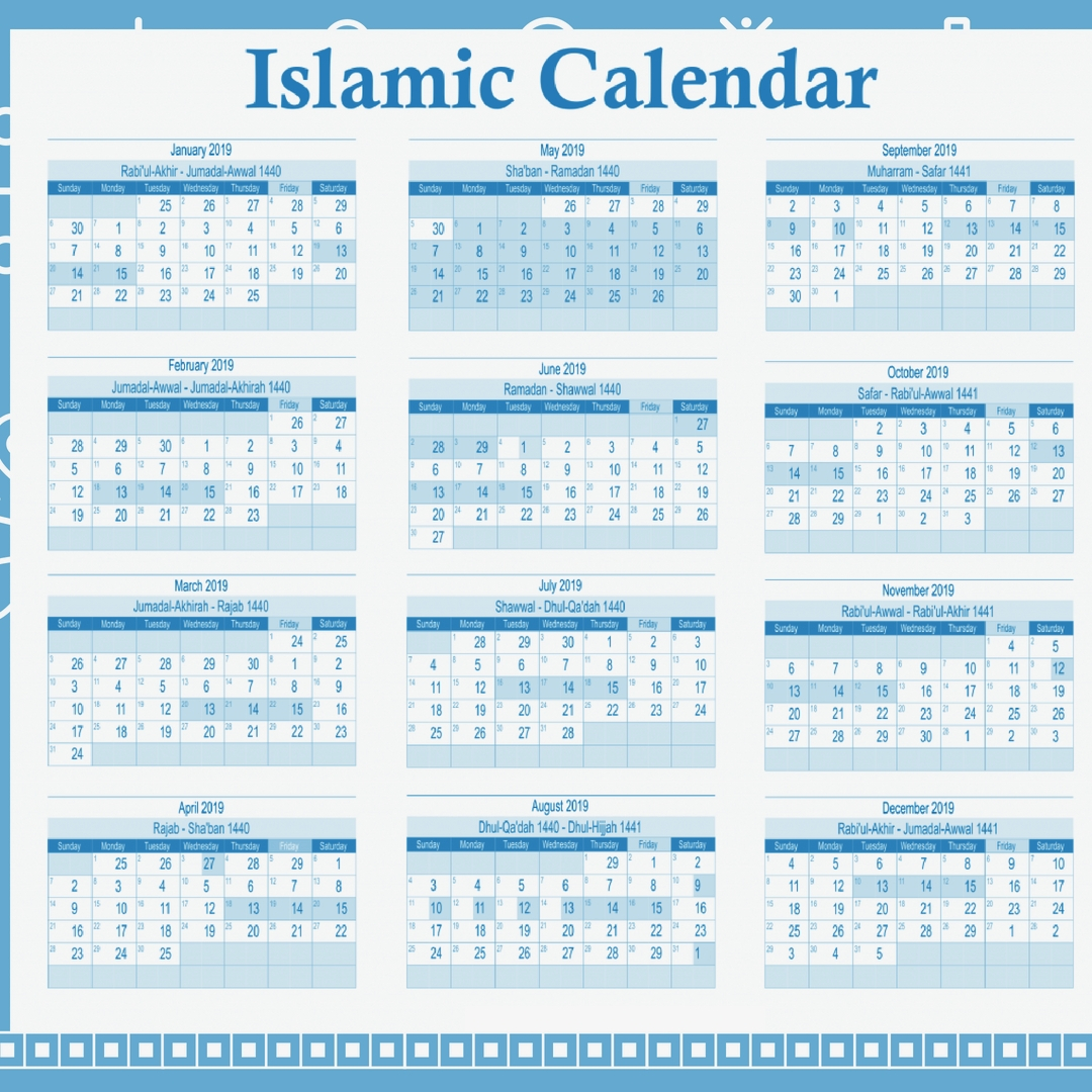 Hijri Calendar 2019  Google Search pertaining to 1440 Hijri Calendar