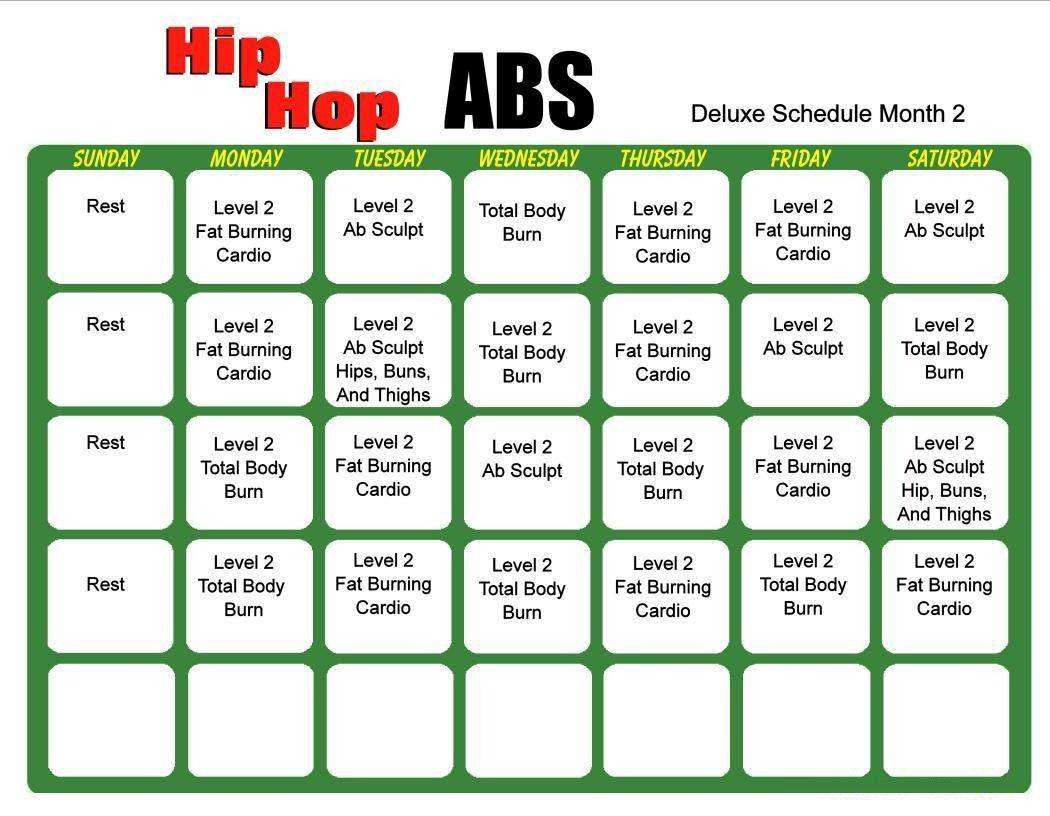 Hip Hop Abs 6 Day Slim Down Meal Plan Pdf | Hip Hop Abs, Hip inside Hip Hop Abs Calendar