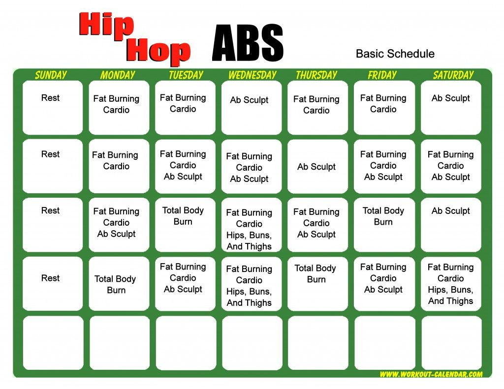 Hip Hop Abs Calendar  Yatay.horizonconsulting.co in Hip Hop Abs Month 2