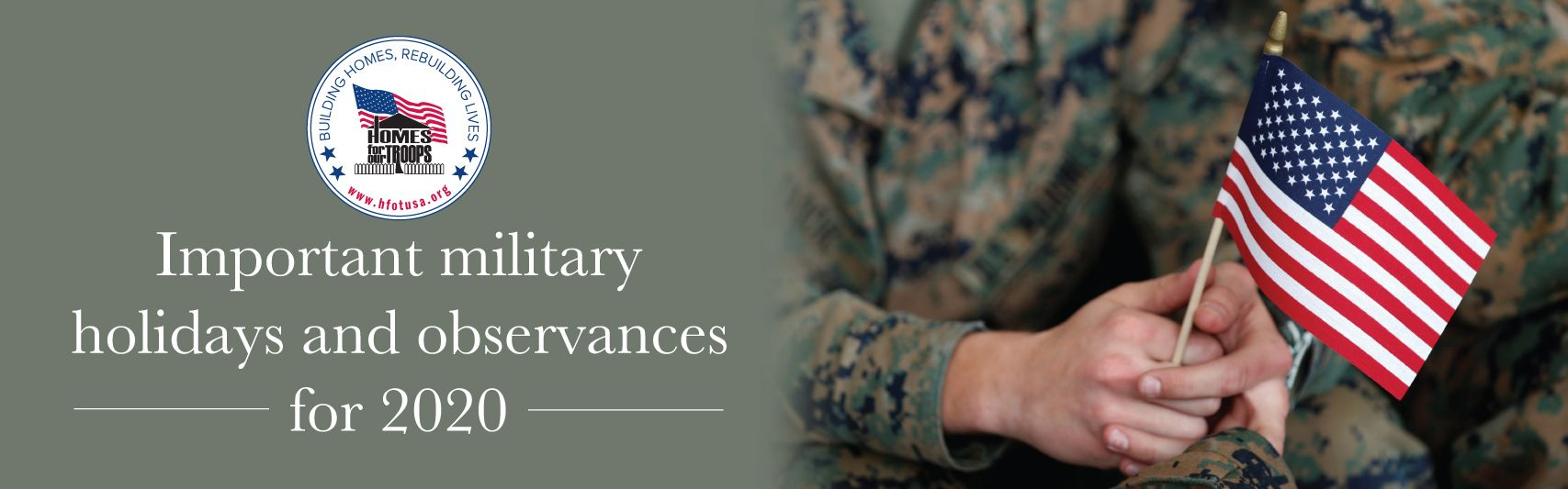 Homes For Our Troops | Important Military Holidays 2019 for January 16 Holidays & Observances