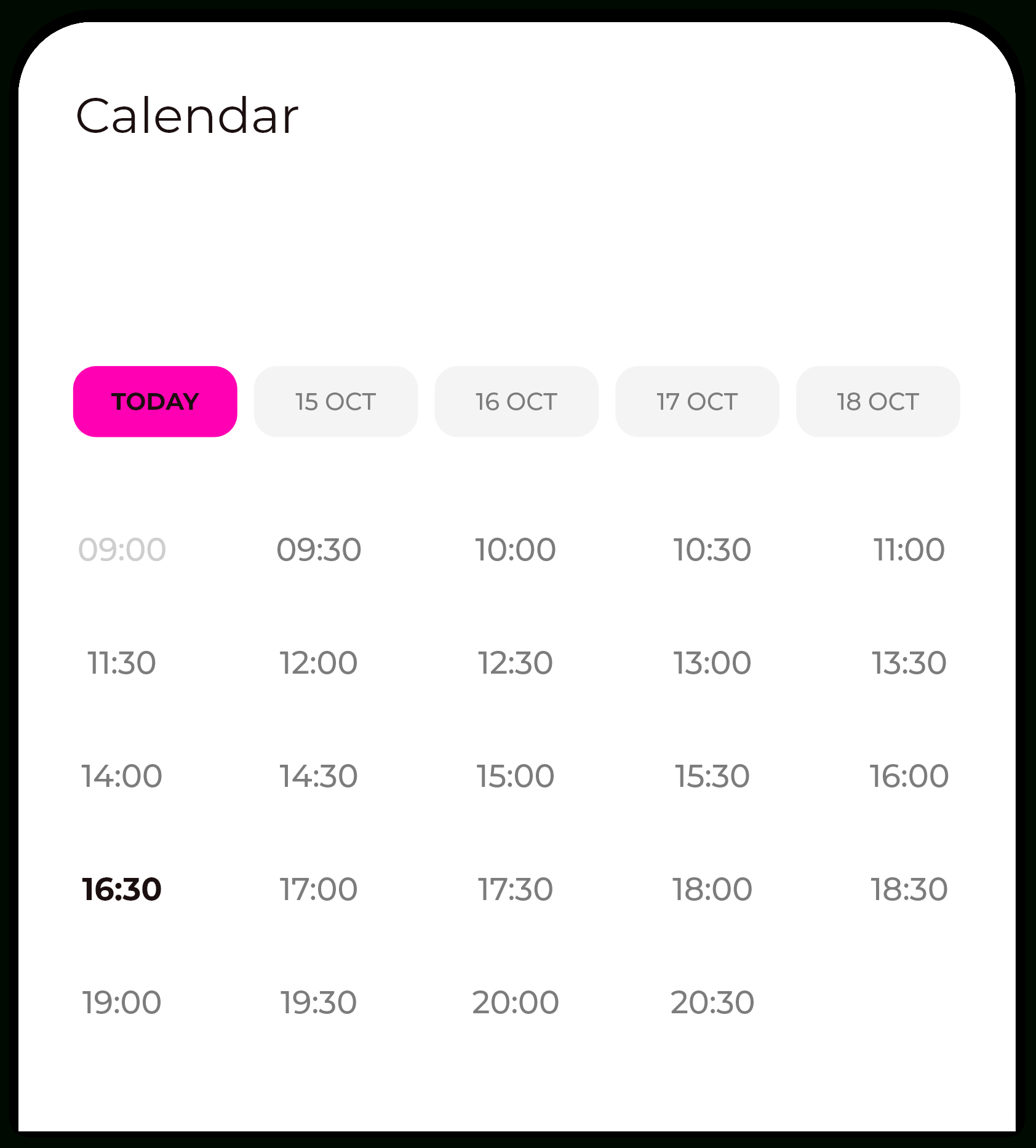 How Can I Have A Calendar With Date As Horizontal Rows And pertaining to Android Arsenal Calendar