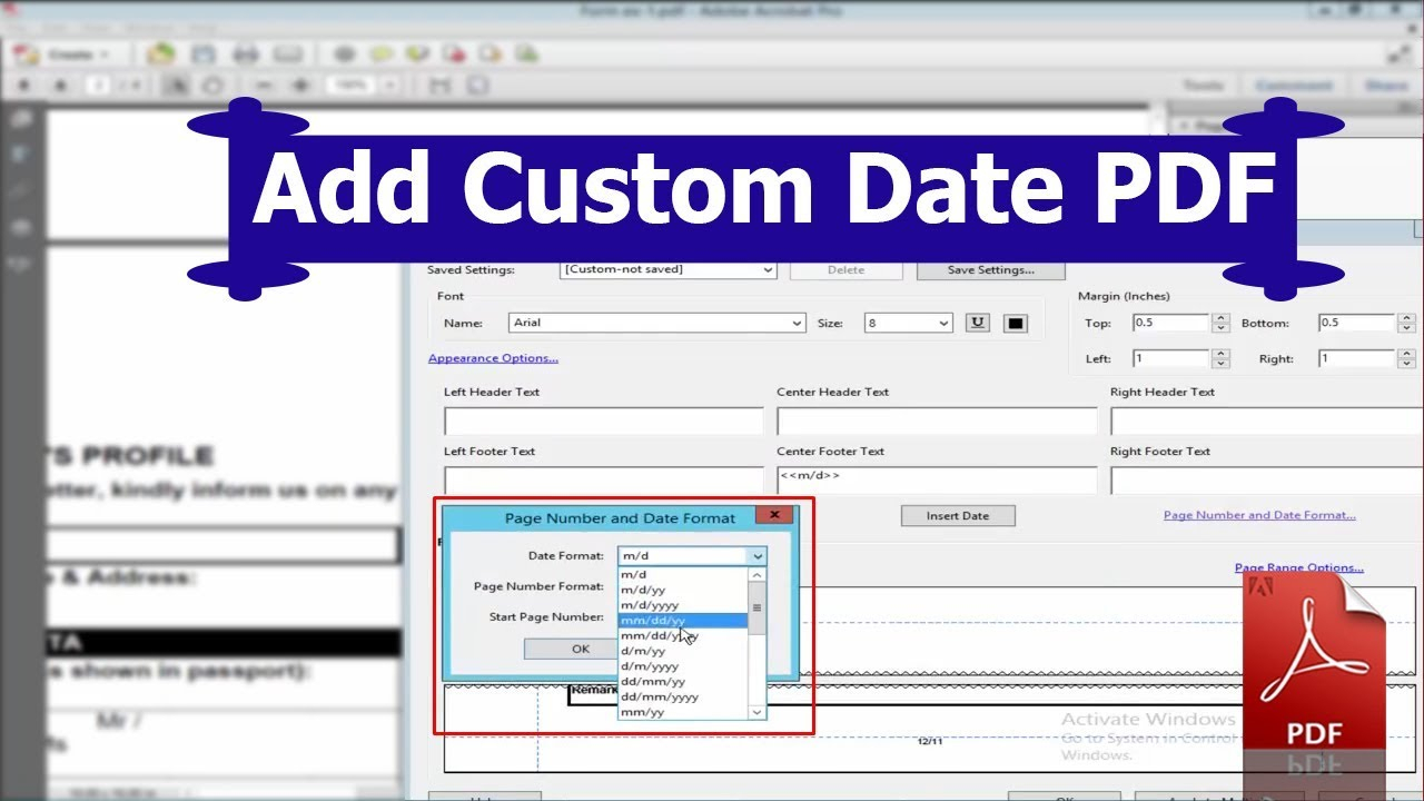 How To Add A Custom Date In Pdf Form Using Adobe Acrobat with regard to Pdf Form Calendar Date Picker