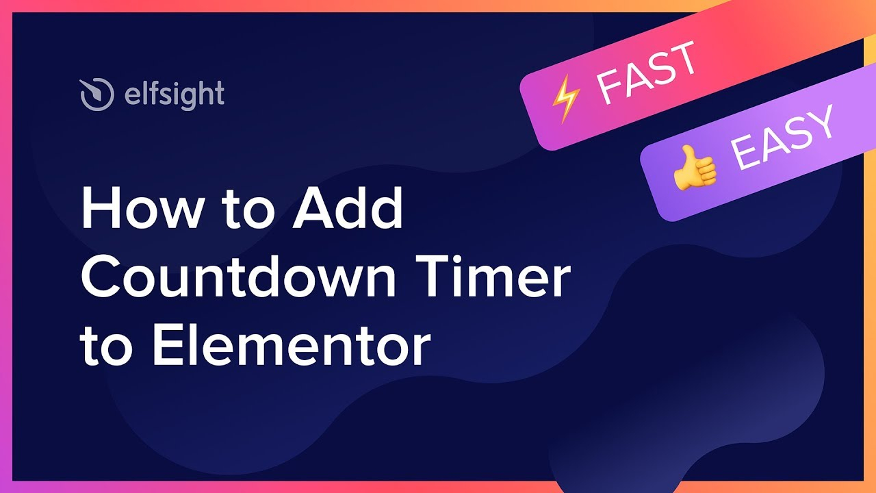 How To Add Countdown Timer To Elementor (2019) for Disney Countdown Widget