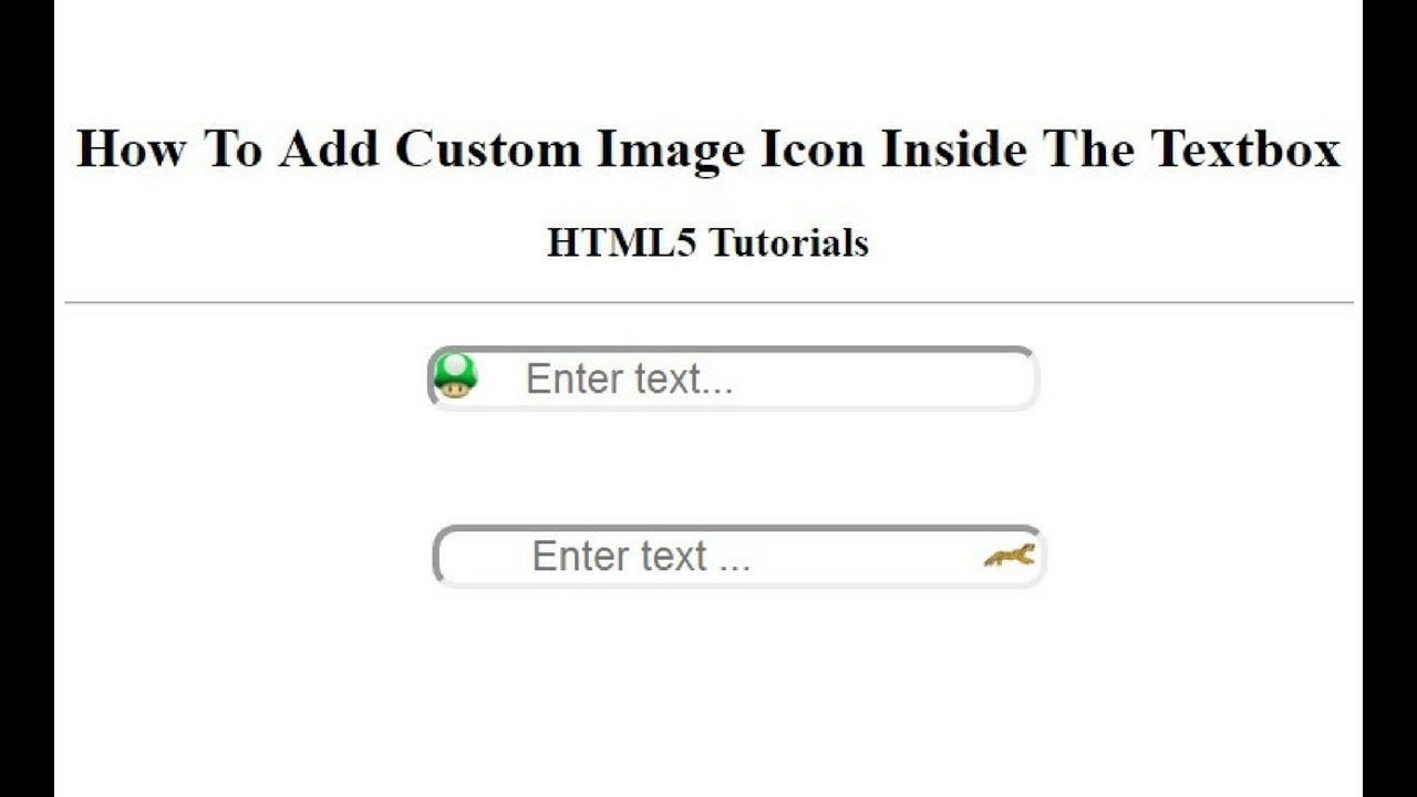 How To Add Custom Image Icon Inside Input Textbox Element Using Css within Calendar Icon Inside Textbox Bootstrap