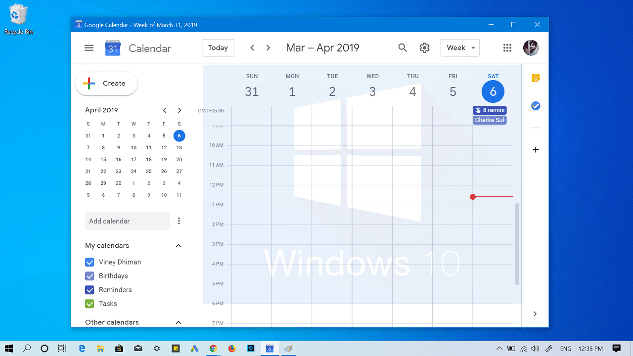 How To Add Google Calendar To Windows 10 Taskbar inside How To Add Google Calendar To Taskbar